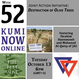 Week 52: Joint Advocacy Initiative and Destruction of Olive Trees