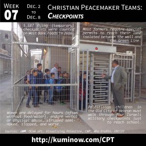 Week #7: Christian Peacemaker Teams and Checkpoints