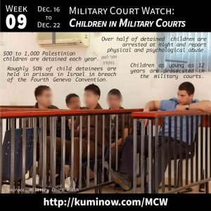 Week #9: Military Court Watch and Children in Military Courts