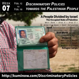 Week 7: Discriminatory Policies towards the Palestinian People Newsletter