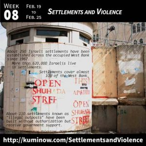 Week #8: Settlements and Violence Newsletter