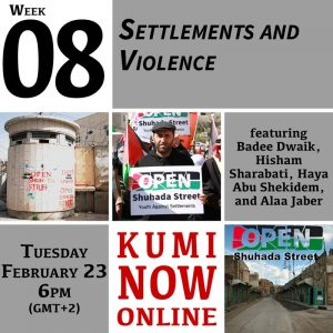 Week 8: Settlements and Violence Online Gathering
