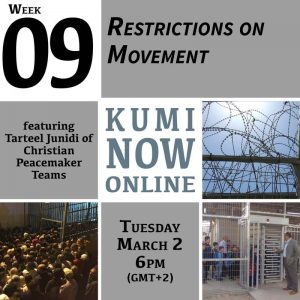 Week 9: Restrictions on Movement Online Gathering