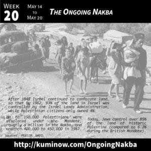 Week 20: The Ongoing Nakba Newsletter