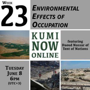 Week 23: Environmental Effects of Occupation Online Gathering