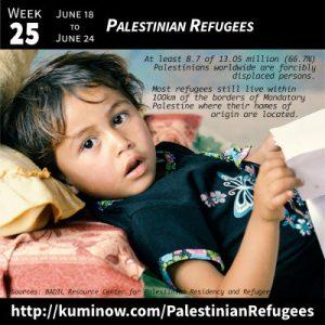 Week 25: Palestinian Refugees Newsletter