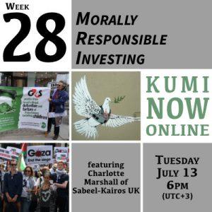 Week 28: Morally Responsible Investing Online Gathering