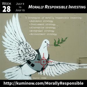 Week 28: Morally Responsible Investing Newsletter