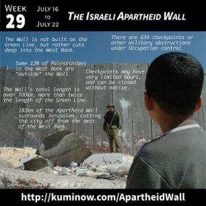 Week 29: Israeli Apartheid Wall Newsletter