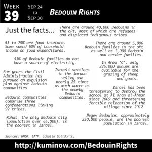 Just the Facts: Bedouin Rights