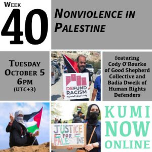 Week 40: Nonviolence in Palestine Online Gathering
