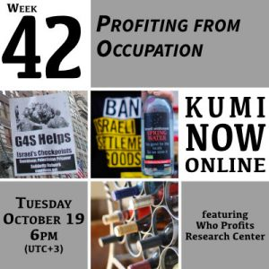 Week 42: Profiting from Occupation Online Gathering